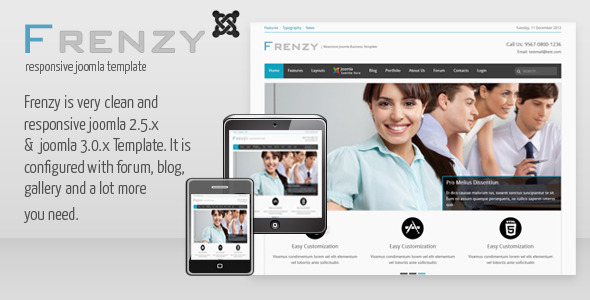 Frenzy - Clean Responsive Joomla Business Template