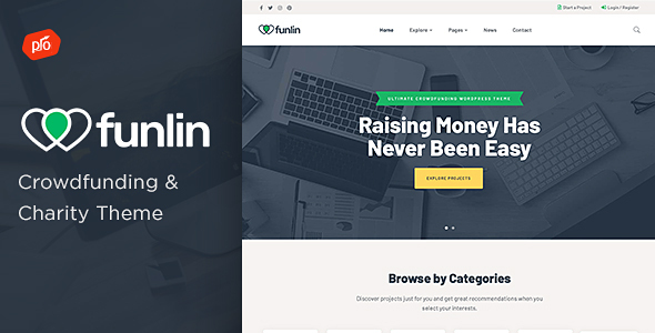 Funlin - Crowdfunding & Charity Theme