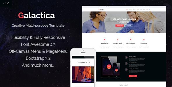 Galactica | Creative Multi-purpose Joomla Template