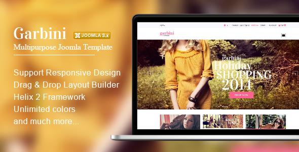 Garbini - Multipurpose Joomla Template
