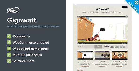 Gigawatt - WordPress Video Theme