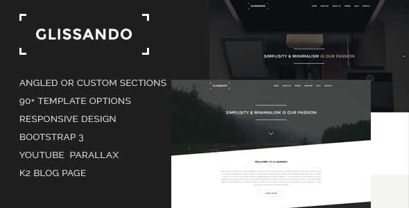 Glissando - Creative and Minimal Joomla Template