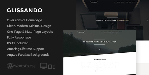 Glissando - Creative One Page Multipurpose Theme