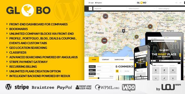 Globo - Directory Listings WordPress Theme