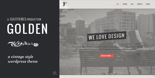 GOLDEN - Responsive Vintage WordPress Theme