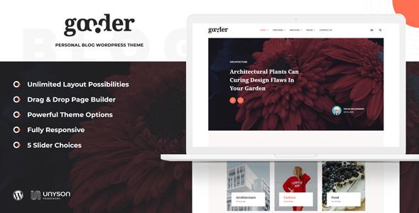 Gooder - Modern Blog WordPress Theme