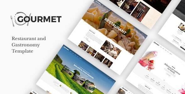 Gourmet - Restaurant and Food Joomla Template