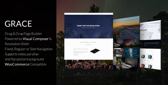 Grace - Creative Flexible Top & Side Navigation Multipurpose Theme