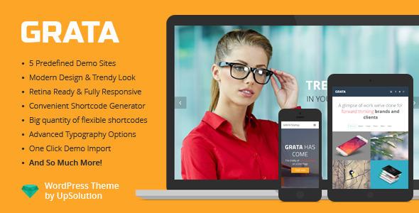 GRATA - Multi-Purpose One Page WordPress Theme