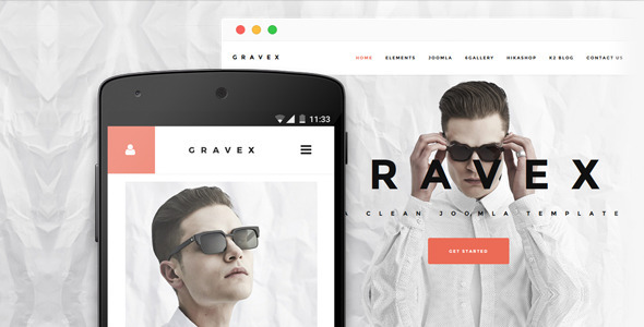 Gravex - Joomla Business Template
