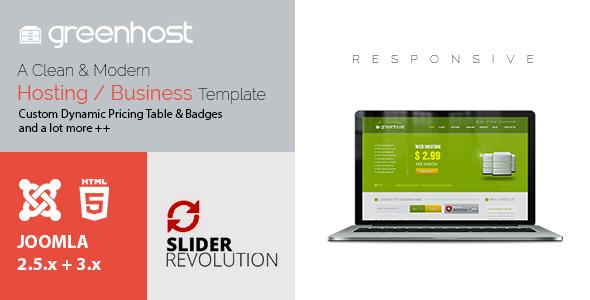 GreenHost - Business & Hosting Joomla Template