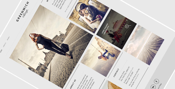 Greenwich Village – One Page WordPress Theme