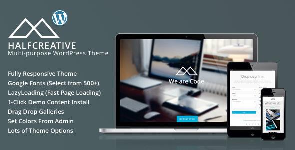 HalfCreative - One Page Portfolio WordPress Theme