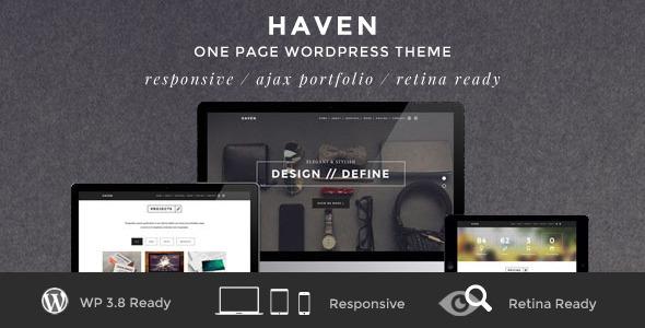 Haven - Elegant One Page WordPress Theme