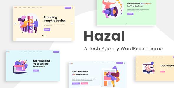 Hazal - A Tech Agency WordPress Theme