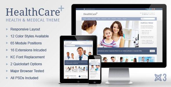 HealthCare+ Medical & Health Joomla Theme
