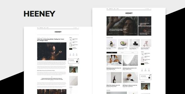 Heeney - Modern Blog WordPress Theme