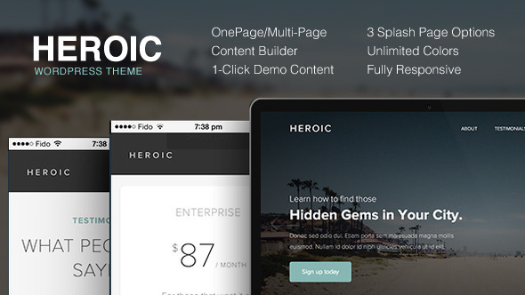Heroic - Creative + Modern WordPress Theme