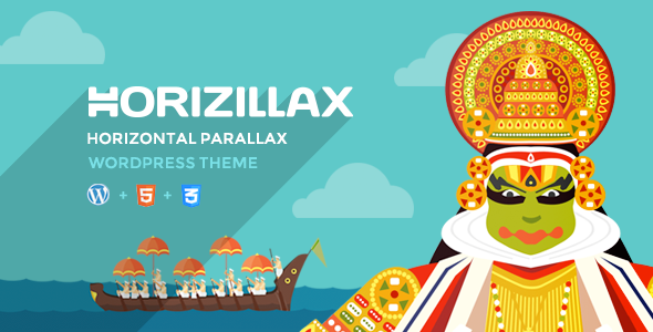 Horizillax - Horizontal Parallax Wordpress Theme