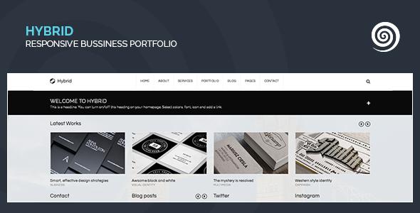 Hybrid - Corporate & Creative Wordpress Portfolio