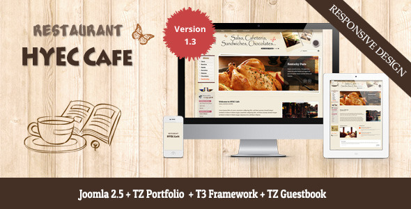 HYEC Cafe - Restaurant Joomla Template