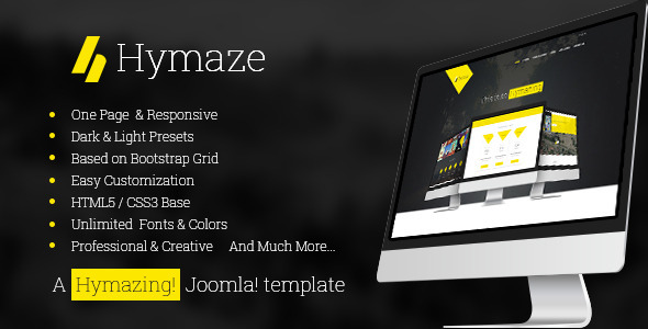 Hymaze - Responsive One Page Joomla Template