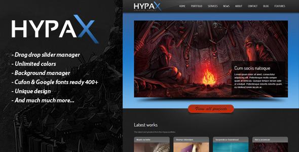 HYPAX – One Page Wordpress Theme