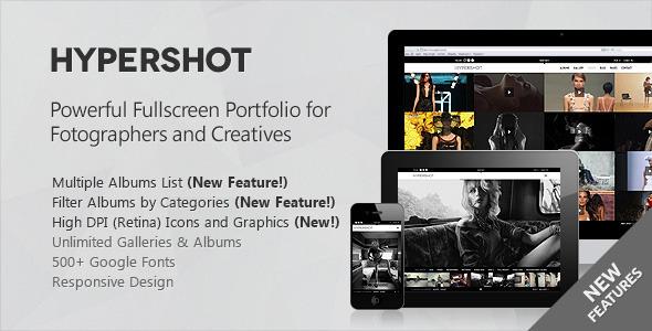 Hypershot - Photography Portfolio WordPress Theme