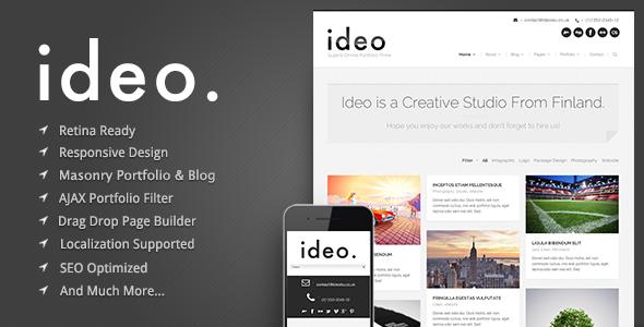 idio - Minimalistic WordPress Portfolio Theme