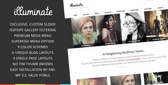 Illuminate - Minimalist & Creative WordPress Theme