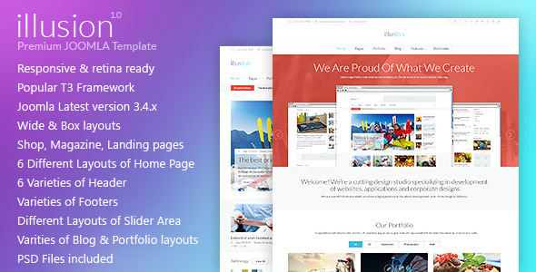 illusion - Premium Multipurpose Joomla Template