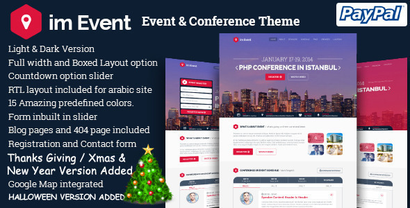 im Event - Event & Conference Joomla Template