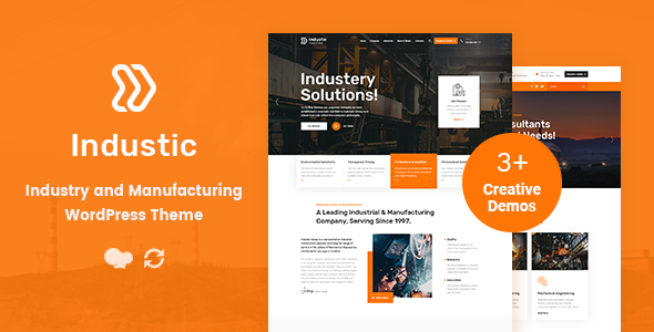 Industic - Factory and Manufacturing WordPress Theme