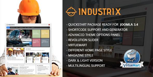 Industrix - Joomla Responsive Business Template