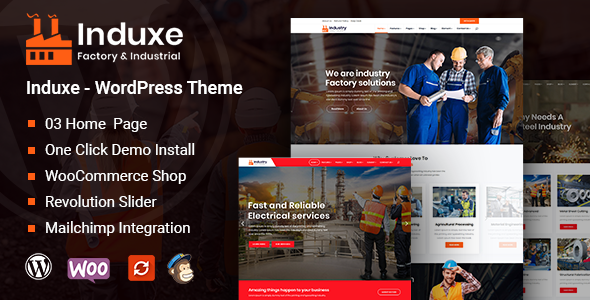 Induxe - Factory and Industry WordPress Theme