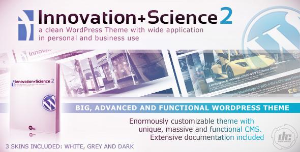 Innovation+Science 2 - Advanced WordPress Theme