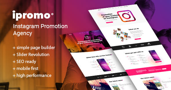 iPromo – Instagram Agency WordPress Theme