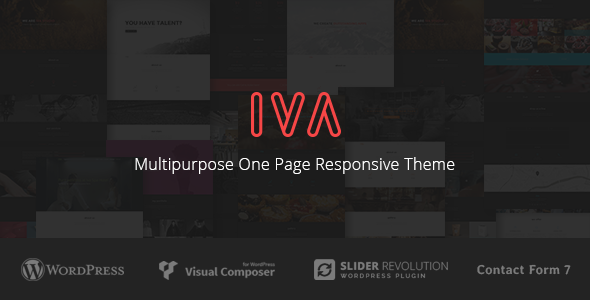Iva - Multipurpose One Page Responsive Theme