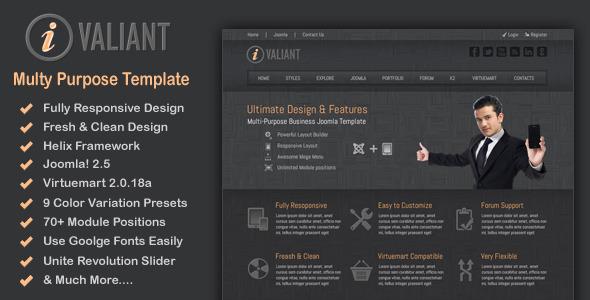 Ivaliant - Clean Responsive Joomla Template