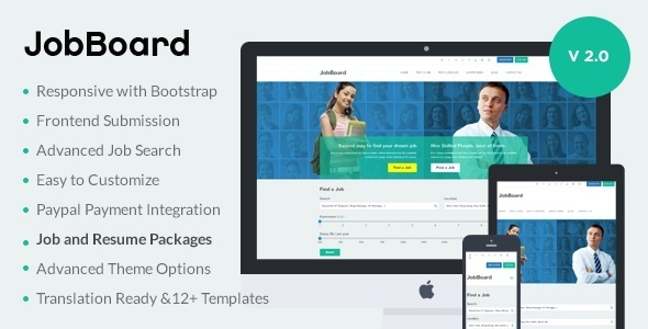 JobBoard - Responsive Recruitment Directory WordPress Theme