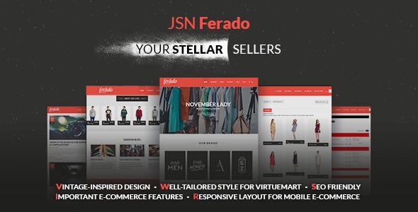 JSN Ferado - A Responsive Joomla Ecommerce Template