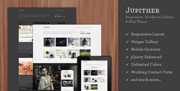 Jupither - Responsive Wordpress Gallery & Blog