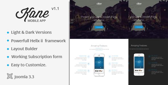 Kane Onepage Parallax App Landing Page