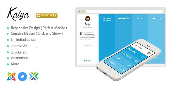 Katya - Responsive Creative CV Joomla Template