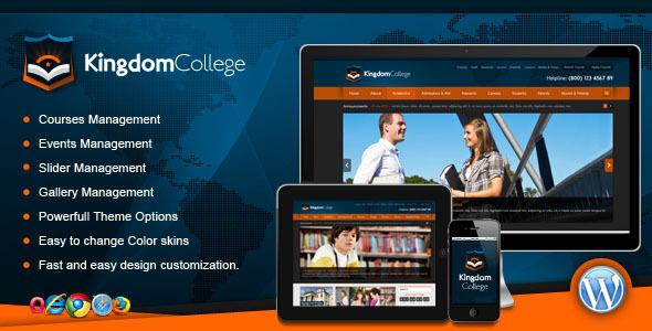 Kingdom College - Educational Wordpress Theme