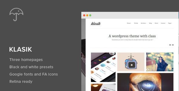 Klasik - Retina Responsive Wordpress Theme