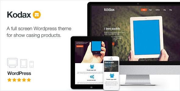 Kodax - Full Screen Landing Page