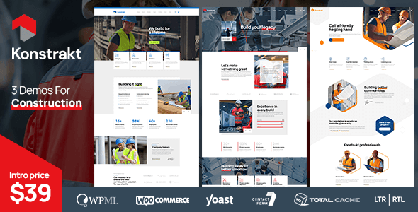 Konstrakt - WordPress Theme for Construction