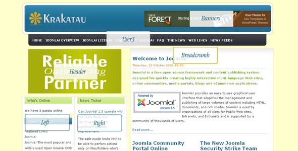 Krakatau Template for Joomla 1.5