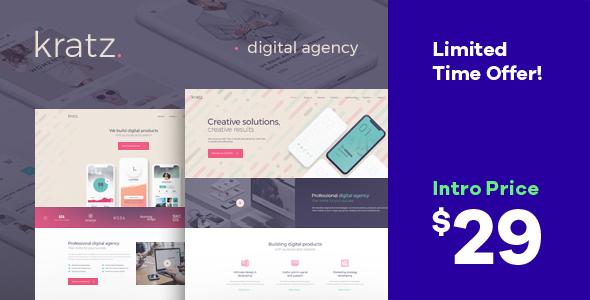 Kratz | Digital Agency WordPress Theme